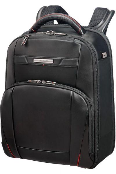 """Samsonite Kožený batoh na notebook 14.1"""" Pro-DLX5 17 l – černá"""