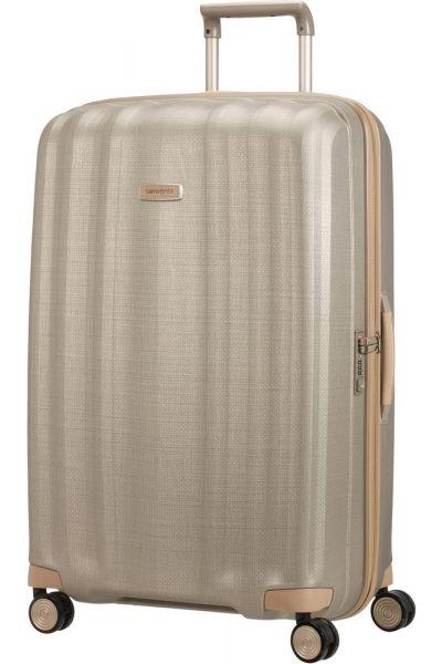 Samsonite Skořepinový cestovní kufr Lite-Cube Prime 122 l – zlatá