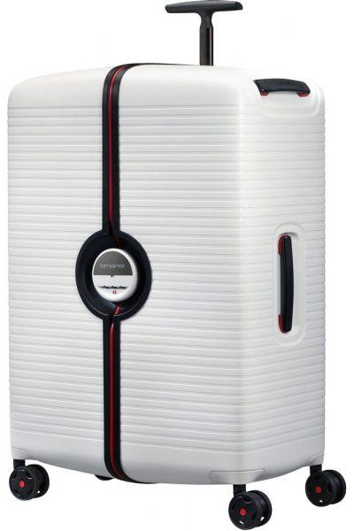 Samsonite Skořepinový cestovní kufr Ibon 102 l – bílá