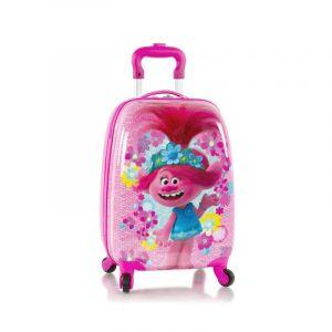 Heys Kids 4w dětský cestovní kufr 46 cm Trolls Flowers