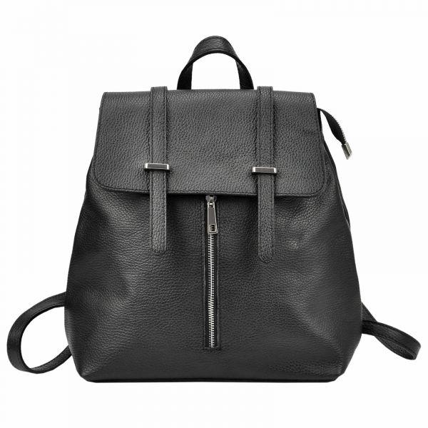 Dámský kožený batoh Vera pelle Beathag – černá