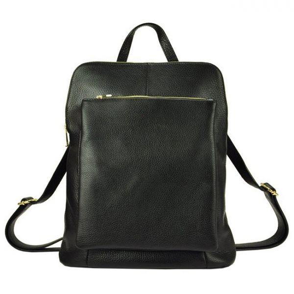 Kožený dámský batoh Vera Pelle Lindes – černá