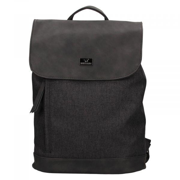 Trendy dámský batoh Mustang Fiona – černo-šedá