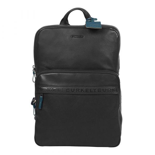 Business kožený batoh Burkely Arent – černá
