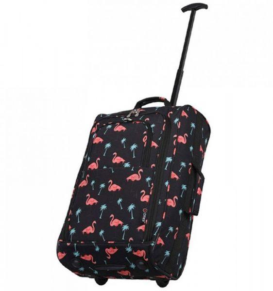 5 Cities T-830 2w palubní kufr 55 cm Flamingo