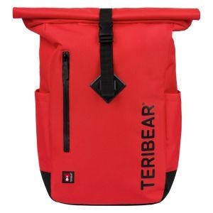 BAAGL Zavinovací batoh TERIBEAR 17 l červený