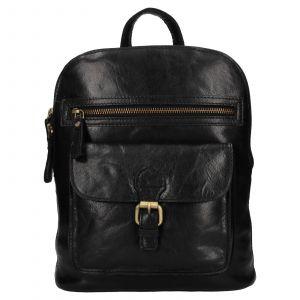 Elegantní dámský kožený batoh Ashwood Ninna – černá