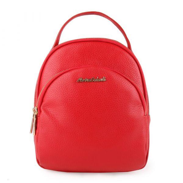 Marina Galanti Dámský kožený batoh MBP002BK1 – červená