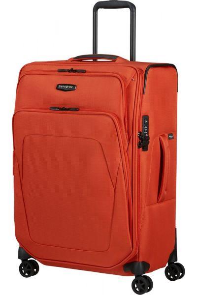 Samsonite Látkový cestovní kufr Spark SNG ECO M EXP 82/92 l – oranžová