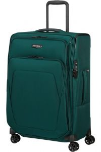 Samsonite Látkový cestovní kufr Spark SNG ECO M EXP 82/92 l – tmavě zelená