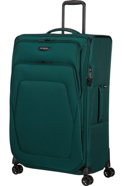 Samsonite Látkový cestovní kufr Spark SNG ECO L EXP 124/140 l – tmavě zelená
