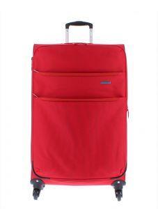 Marina Galanti Látkový cestovní kufr L 89002-28 129 l – červená