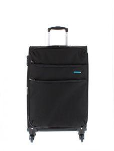 Marina Galanti Látkový cestovní kufr M 89002-24 86 l – černá