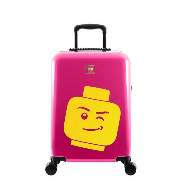 LEGO Luggage Kabinový cestovní kufr ColourBox Minifigure Head 40 l růžový