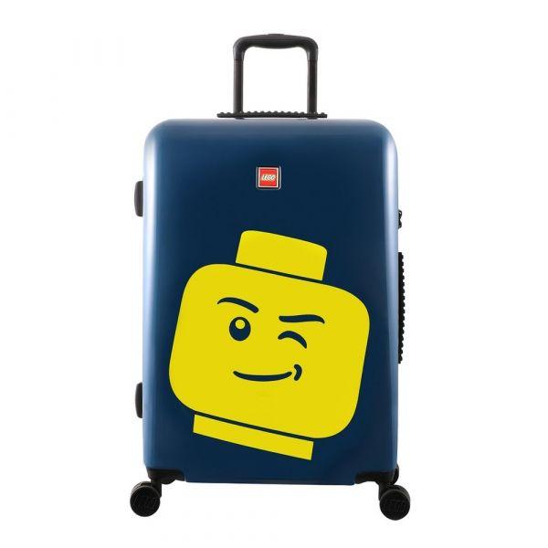 LEGO Luggage Skořepinový cestovní kufr ColourBox Minifigure Head 70 l modrý