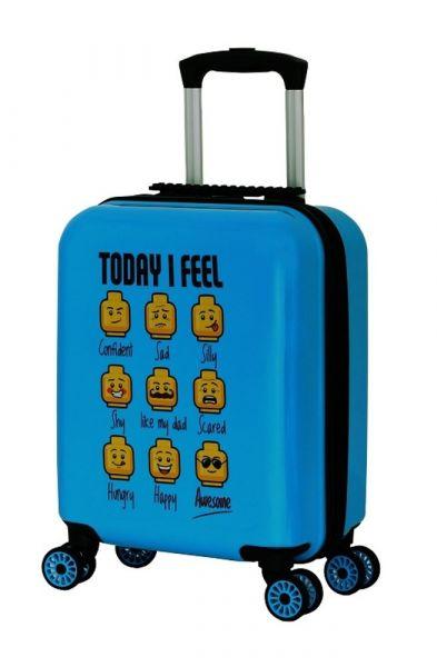 LEGO Luggage Dětský cestovní kufr LEGO minifigures Today I Feel 30 l