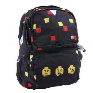 LEGO Školní batoh Faces Black Freshmen 20 l