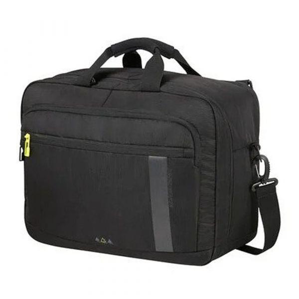 American Tourister Palubní taška 3v1 Work-E 27 l – černá