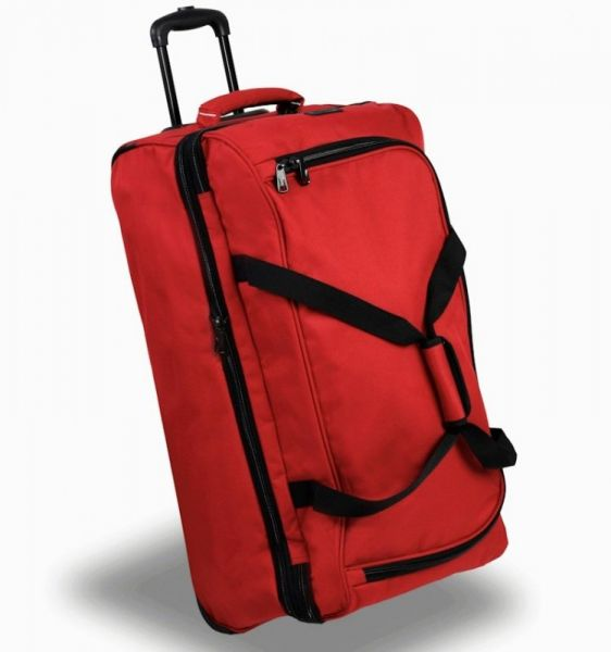 Cestovní taška na kolečkách MEMBER'S TT-0032 – červená