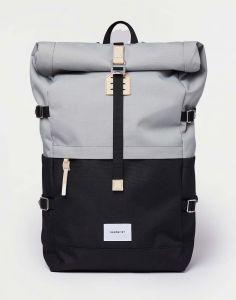 Sandqvist Bernt Multi Grey/Black with natural leather 20 l