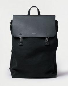 Sandqvist Hege Metal Hook Black with Black Leather 18 l