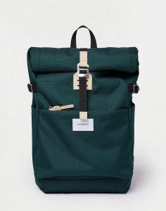 Sandqvist Ilon Dark Green with Natural Leather