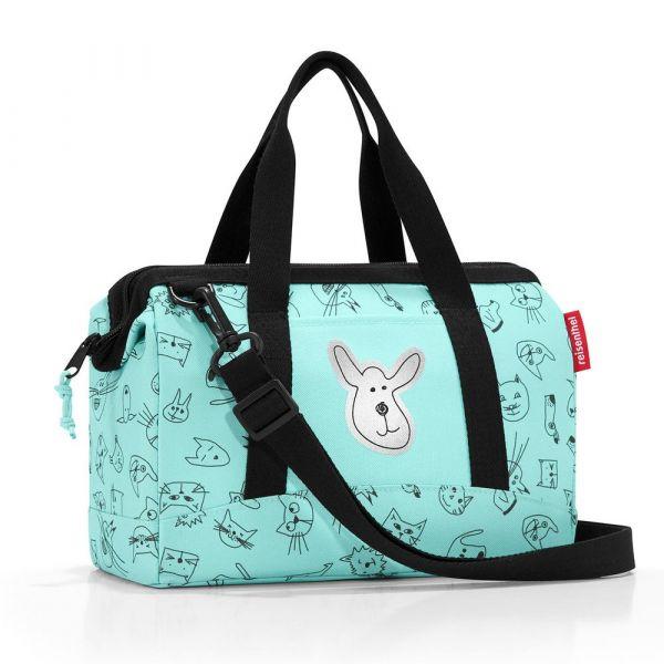 Reisenthel Dětská cestovní taška Allrounder XS Cats and dogs mint 5 l