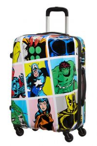 American Tourister Skořepinový cestovní kufr Marvel Legends 62,5 l – multicolor