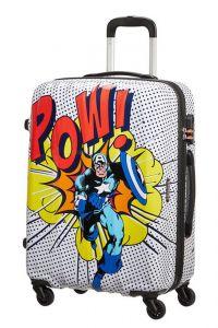 American Tourister Skořepinový cestovní kufr Marvel Legends 62,5 l – vzor/černá