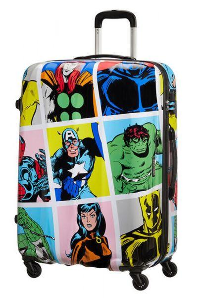 American Tourister Skořepinový cestovní kufr Marvel Legends 88 l – multicolor