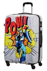 American Tourister Skořepinový cestovní kufr Marvel Legends 88 l – vzor/černá