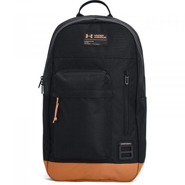 Under Armour UA Halftime Backpack Black / Leather Brown / Black
