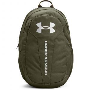 Under Armour UA Hustle Lite Backpack Marine OD Green / Marine OD Green / Metallic Silver
