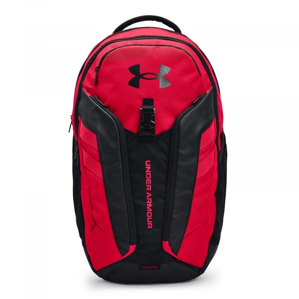 Under Armour UA Hustle Pro Backpack Red / Black / Metallic Ore
