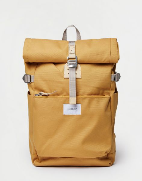 Sandqvist Ilon Yellow with Natural Leather