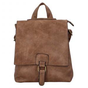 Dámský batoh Paolo Bags Linda – tmavě béžová
