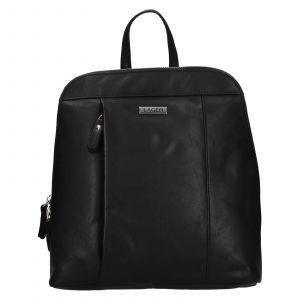 Dámský kožený batoh Lagen Karina – černá