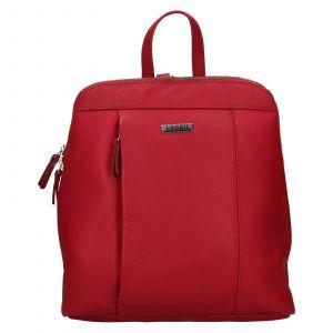 Dámský kožený batoh Lagen Karina – červená
