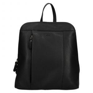 Dámský kožený batoh Lagen Eva – černá