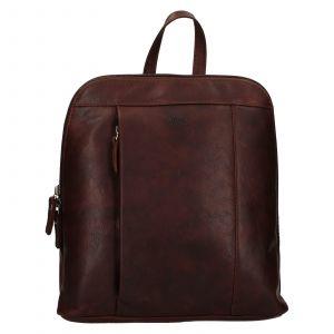 Dámský kožený batoh Lagen Eva – tmavě hnědá
