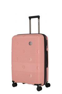 Travelite Skořepinový cestovní kufr Smarty 4w M Pink 70/79 l