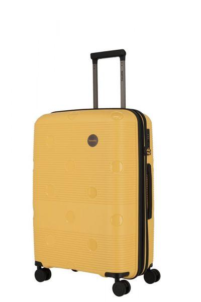 Travelite Skořepinový cestovní kufr Smarty 4w M Yellow 70/79 l