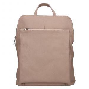 Kožený dámský batoh Unidax Marion – světle růžová