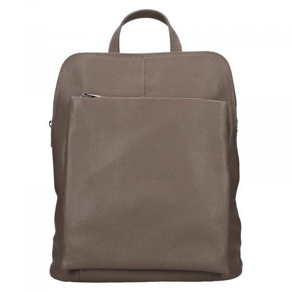 Kožený dámský batoh Unidax Marion – šedá