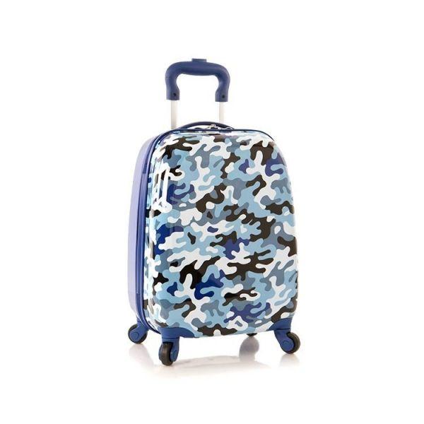 Heys Kids 4w dětský cestovní kufr 46 cm Blue-Camo