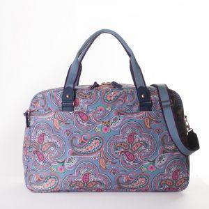 Oilily Helena Paisley Weekender cestovní taška 55 cm Adriac Blue