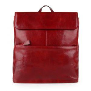 Sněžka Náchod Dámský kožený batoh 5133 – červená