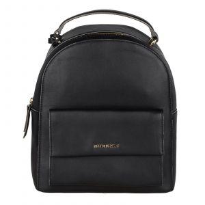 Dámský kožený batoh Burkely Renate – černá