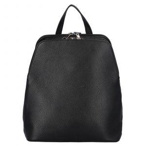 Kožený batoh Delami Hafia – černá