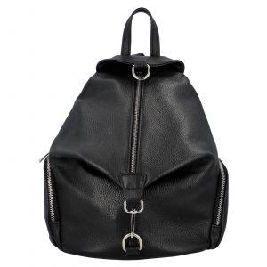 Kožený batoh Delami Anet – černá